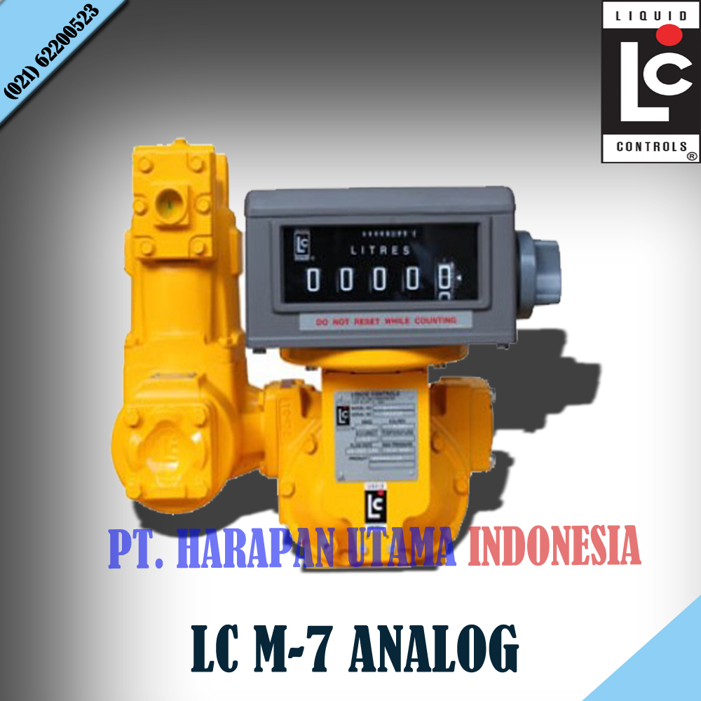 Jual flow meter lc analog with counter strainer